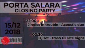 Porta Salara closing party // live Jingles in Trouble+Dj-set @ Radio Aut